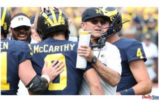 Next week, Harbaugh's Michigan football team...
