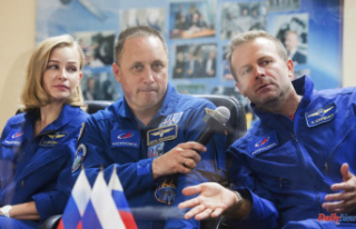 Russia crew to launch to space to film their first...