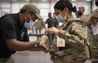 The Army provides armor for smaller troops when right-sizing...
