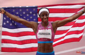 Keni Harrison, a NC hurdler, wins silver at the Summer Olympics in the women's 100 hurdles