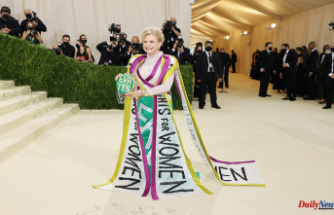 Carolyn Maloney and Cara Delevingne advocate for women's right with statement outfits at Met Gala