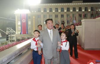 North Korean Parade: Thinner Kim is the star