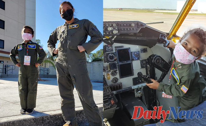 Florida's MacDill Air Force Base makes Fantasy come true for Woman, 5, Offset cancer Combat