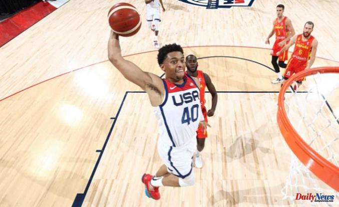 Keldon Johnson's outstanding performance in basketball helps Team USA win against Spain