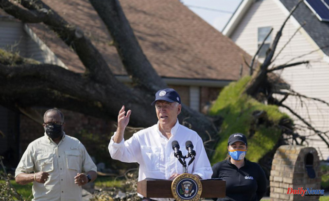 """Biden says to storm-ravaged Louisiana: """"I know you're hurting."""""""