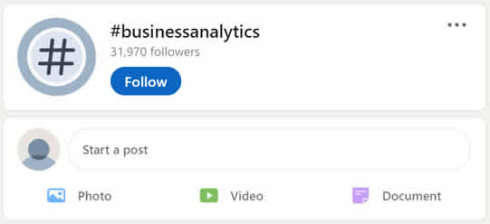 Follower Count of LinkedIn Hashtag to Seek Potential Customers